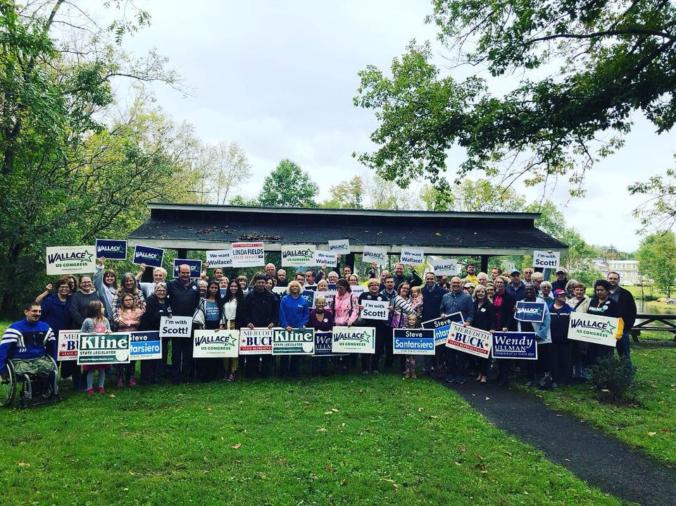 Turn PA Blue Canvass for Wallace, Collet and Buck!