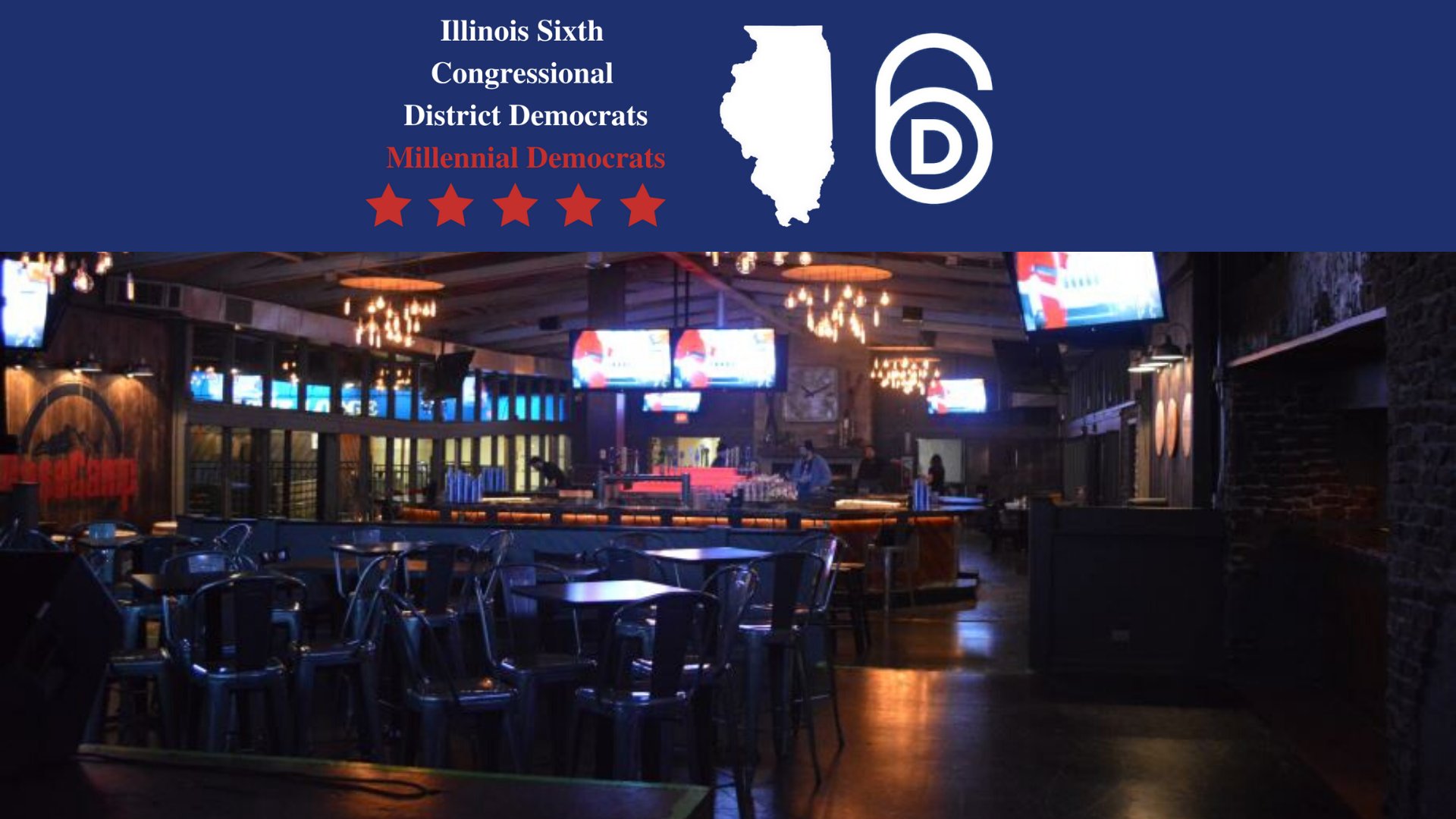 Admirable Sixth Dems Millennial Democrats Social Event Illinois Bralicious Painted Fabric Chair Ideas Braliciousco